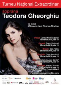 Soprano Teodora Gheorghiu – first Romanian recital tour