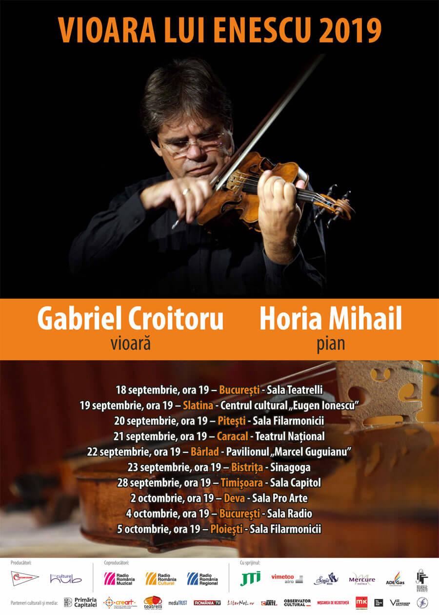 A New Enesco's Violin Tour with Violinist Gabriel Croitoru, 2019